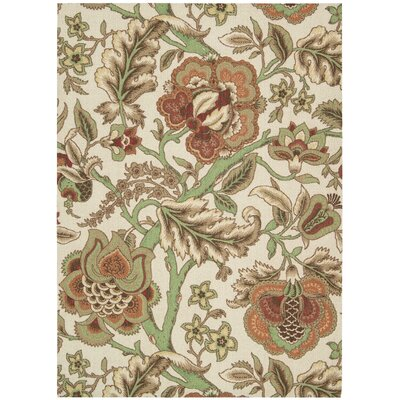 Global Awakening Imperial Dress Brown/Beige Area Rug Rug Size: 5 x 7