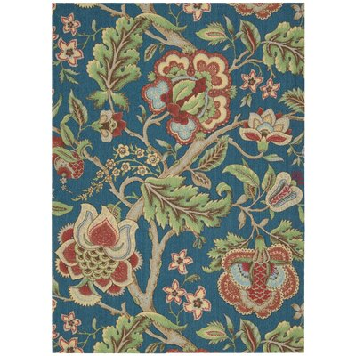 Global Awakening Imperial Dress Blue/Green/Sapphire Area Rug Rug Size: 26 x 4