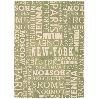 Sun n Shade Pattern Destinations Wasabi Indoor/Outdoor Area Rug Rug Size: 79 x 1010