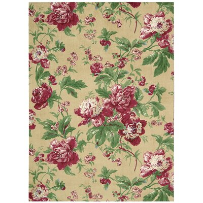 Artisinal Delight Forever Yours Beige/Pink/Green Area Rug Rug Size: Rectangle 5 x 7