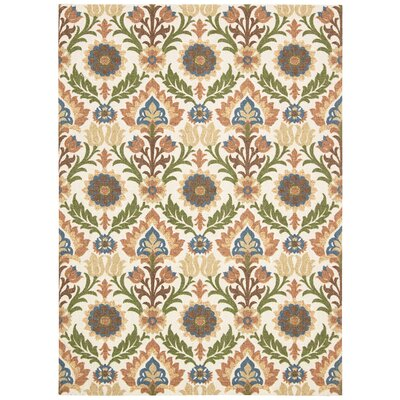 Global Awakening Santa Maria Brown/Green Area Rug Rug Size: 5 x 7