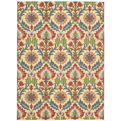 Global Awakening Yellow/Brown Area Rug Rug Size: 5 x 7