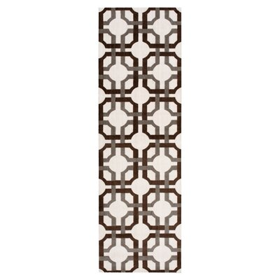 Artisinal Delight Groovy Grille Tobacco Area Rug Rug Size: Runner 26 x 8