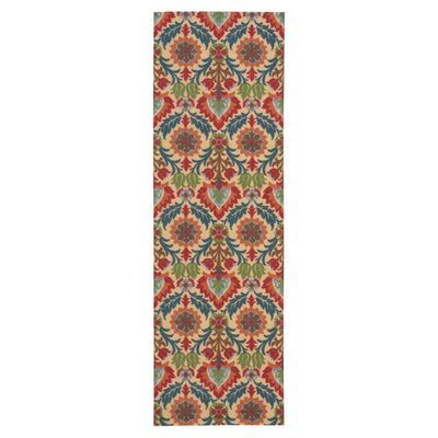 Global Awakening Yellow/Brown Area Rug Rug Size: Runner 26 x 8
