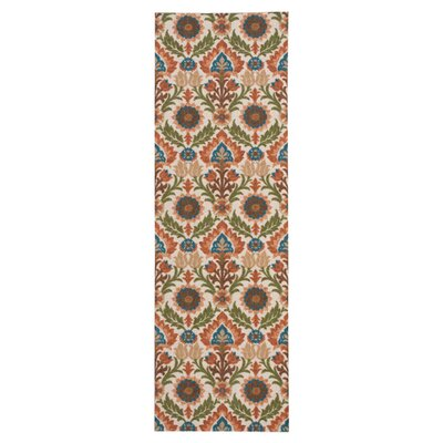 Global Awakening Santa Maria Brown/Green Area Rug Rug Size: Runner 26 x 8