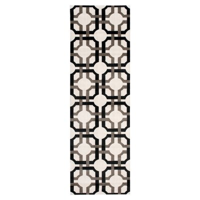 Artisanal Delight Groovy Grille Licorice Area Rug Rug Size: Runner 26 x 8