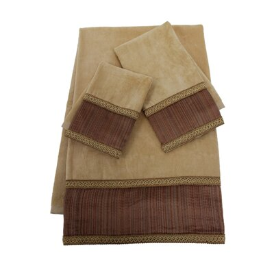 Juliet Decorative 3 Piece Towel Set