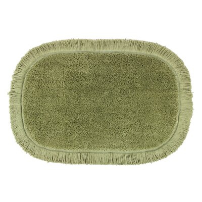 Crossweave Fringed Bath Rug