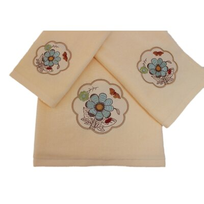Elindale Decorative 3 Piece Towel Set