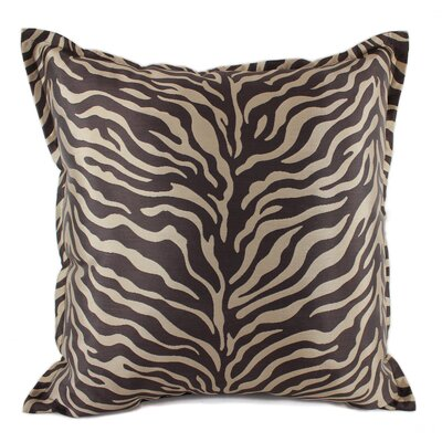 True Safari Throw Pillow Color: Brown