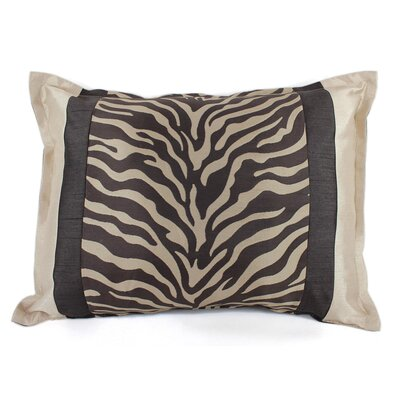 True Safari Lumbar Pillow Color: Brown