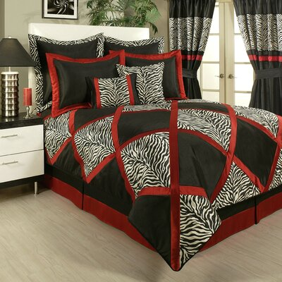 True Safari 4 Piece Comforter Set Size: King