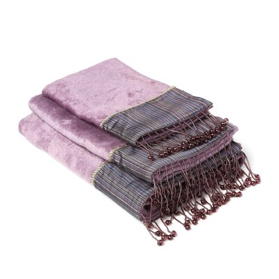 Silk Strie Decorative 3 Piece Towel Set