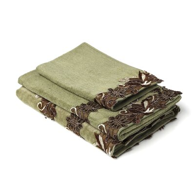 Romantica Sage Decorative 3 Piece Towel Set Color: Sage
