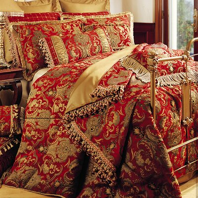 China Art 5 Piece Comforter Set Color: Red, Size: King