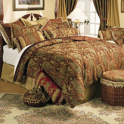 China Art 5 Piece Comforter Set Size: Queen, Color: Brown