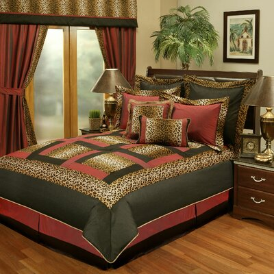 Jungle Passage Cheetah 8 Piece Reversible Comforter Set Size: King