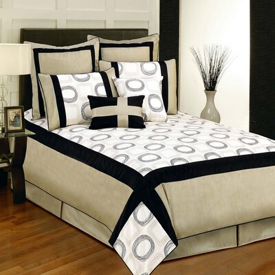 Synergy 8 Piece Comforter Set Size: Queen