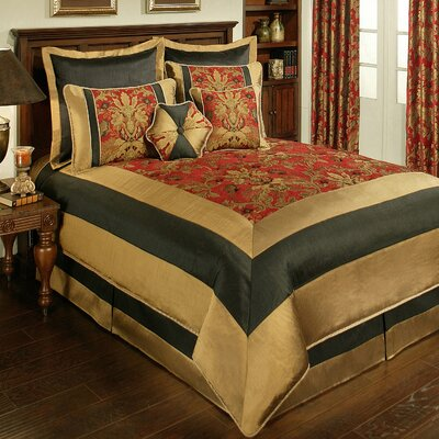 Milano 8 Piece Comforter Set Size: Queen