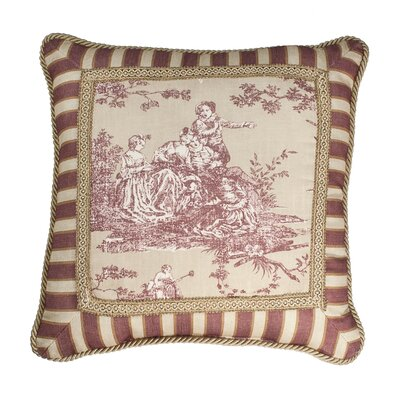 Country Sunset Toile Luxury Throw Pillow
