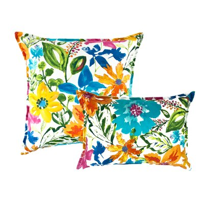 2 Piece Summer Floral Pillow Set