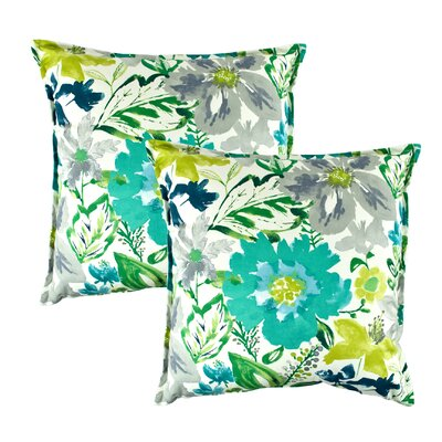 Summer Floral Decorative Throw Pillow