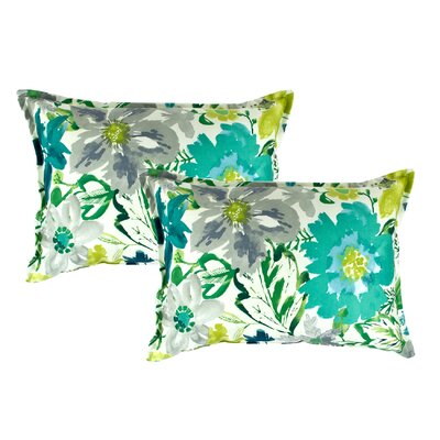 Summer Floral Decorative Lumbar Pillow