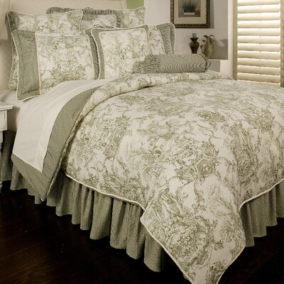 Country Toile 6 Piece Comforter Set Size: King