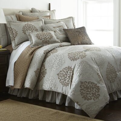 York 4 Piece Comforter Set Size: King