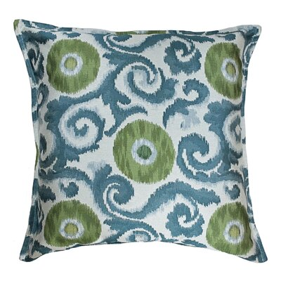 Gajam Decorative Euro Pillow Color: Emerald