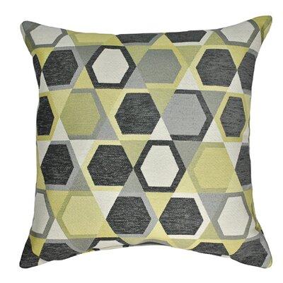 Honeycomb Decorative Throw Pillow Color: Lemon