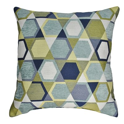Honeycomb Decorative Throw Pillow Color: Spa