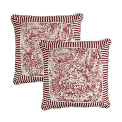 Elizabethan Toile Print Throw Pillow