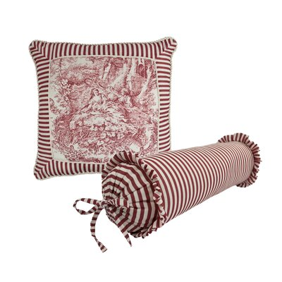 Elizabethan 2 Piece Toile Decorative Pillow Set