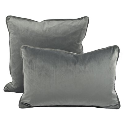 Richmond Combo Pillow Color: Silver Gray