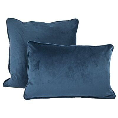 Richmond Combo Pillow Color: Navy Blue
