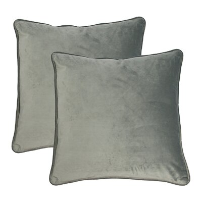 Throw Pillow Color: SIlver Gray
