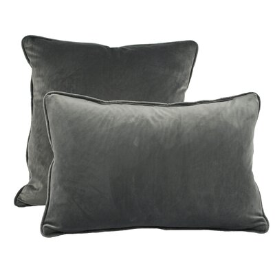 Richmond Combo Pillow Color: Dark Gray