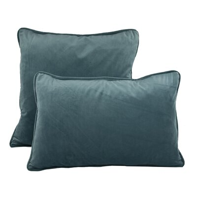 Richmond Combo Pillow Color: Lake Blue