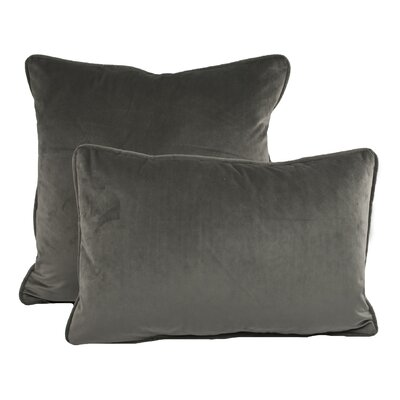 Richmond Combo Pillow Color: Taupe Gray