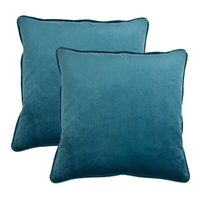 Throw Pillow Color: Ocean Blue