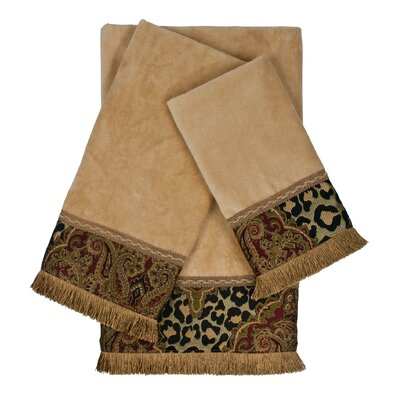 Tangiers Decorative Embellished 3 Piece Towel Set