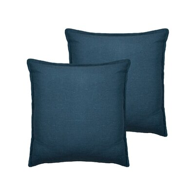 Lombard Reversible Decorative Linen Throw Pillow Color: Blue