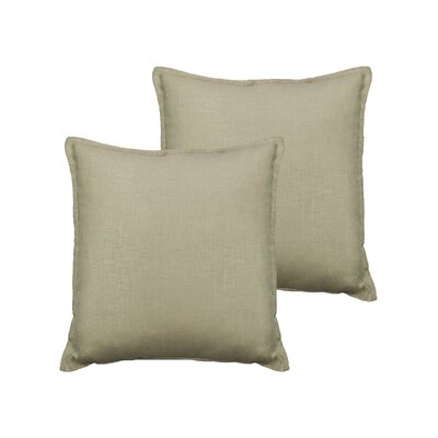 Lombard Reversible Decorative Linen Throw Pillow Color: Light Beige