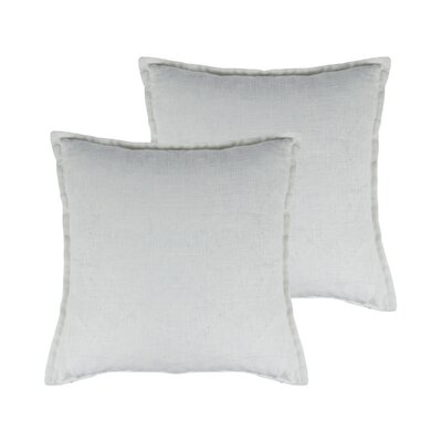 Lombard Reversible Decorative Linen Throw Pillow Color: White