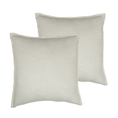 Lombard Reversible Decorative Linen Throw Pillow Color: Off-white