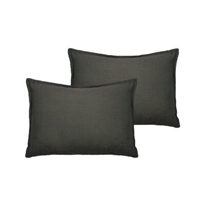 Lombard Reversible Decorative Linen Boudoir Pillow Color: Graphite