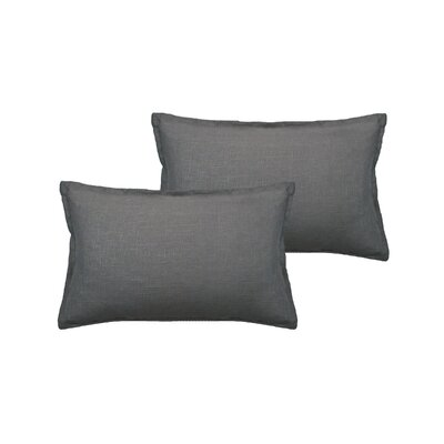 Lombard Reversible Decorative Linen Boudoir Pillow Color: Gray