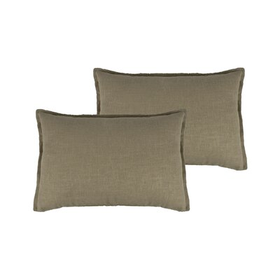 Lombard Reversible Decorative Linen Boudoir Pillow Color: Ecru