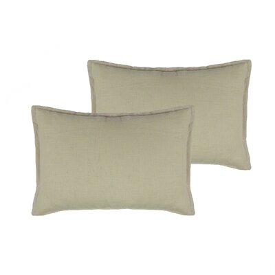 Lombard Reversible Decorative Linen Boudoir Pillow Color: Light Beige